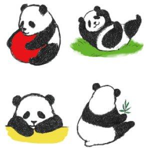 画像2: パンダのアドレスラベル