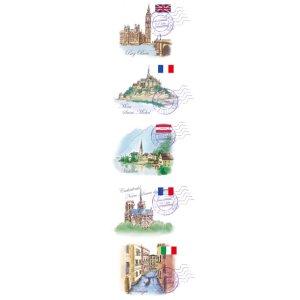 画像2: 世界遺産の描かれたアドレスラベル