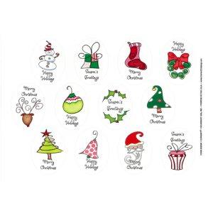 画像2: クリスマスの封印シールG026
