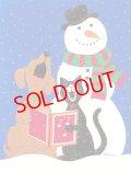 スノーマンのクリスマスカード N282