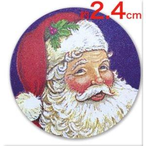 画像1: サンタクロースの小さいシール G103
