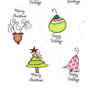 画像1: クリスマスの封印シールG026
