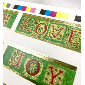 画像2: クリスマスのステキなキラキラ2行印字
