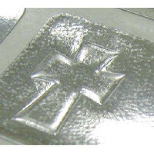 画像2: 十字架のシンプルなエンボスシール!プレーンラベル
