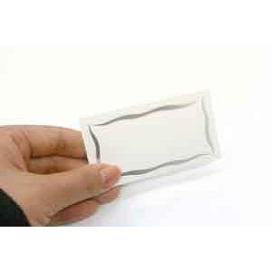画像2: 片面 ミニカード シンプルなデザイン(印字はできません)シルバー箔がつかわれています