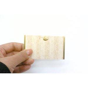 画像2: 片面 ミニカード 葉っぱのデザイン(印字はできません)金の箔がつかわれています