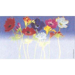 画像1: 片面 ミニカード花デザイン(印字はできません)