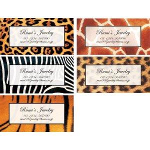 画像2: ジャガー、キリン、シマウマ、トラ、ヒョウのアニマル柄デザイン