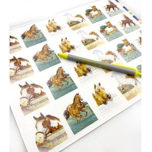 画像4: 生き生きとした馬のラベル