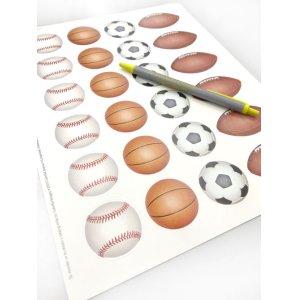 画像4: サッカーや野球、バスケ、ラグビーボールのデザイン
