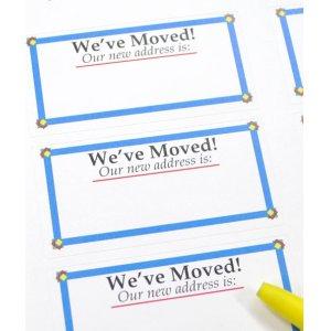 画像2: 引越、引っ越しに便利な、転居ラベル(家族、複数人用)