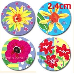 画像1: 小さい花のカラフル封印シール