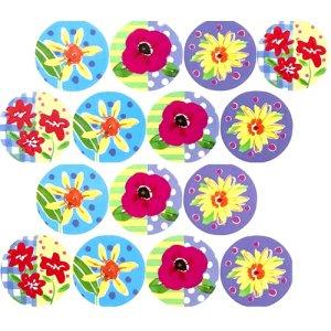 画像2: 小さい花のカラフル封印シール