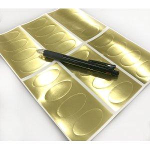 画像4: 金の楕円形のシール