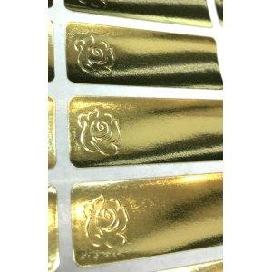 画像2: ゴールドの花×エンボスシール!