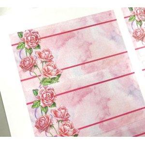 画像2: ピンクのバラが美しい水彩画風デザイン
