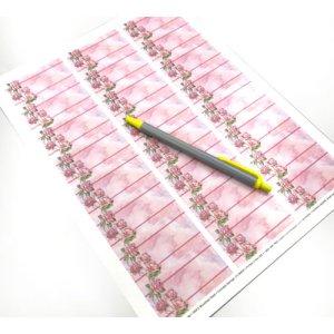 画像3: ピンクのバラが美しい水彩画風デザイン