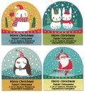 クリスマスの可愛い動物たち