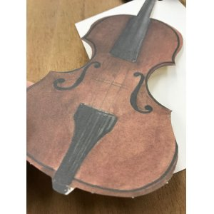 画像4: 型抜きされたカード バイオリン