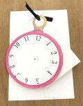型抜きされたカード 時計