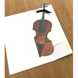 画像5: 型抜きされたカード バイオリン