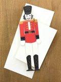 型抜きされたカード くるみ割り人形