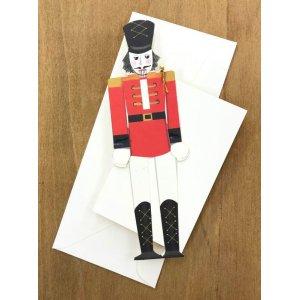 画像1: 型抜きされたカード くるみ割り人形