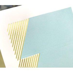 画像2: 金のストライプに、淡いブルーグリーン