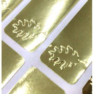 画像2: ゴールドの葉っぱ×エンボスシール!