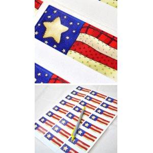 画像2: アメリカの星条旗のデザイン!アドレスラベル