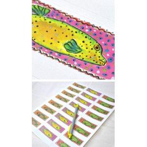 画像3: カラフルな魚のデザイン!アドレスラベル