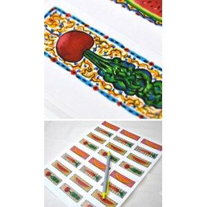 画像3: カラフルな野菜のデザイン!アドレスラベル