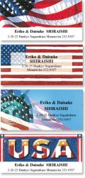 アメリカの国旗のアドレスラベル