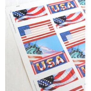 画像2: アメリカの国旗のアドレスラベル