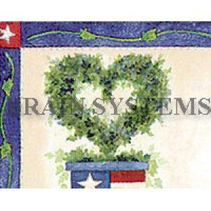 画像2: 鉢植えのイラストにアメリカ国旗がちょこっとアクセントのアドレスラベル
