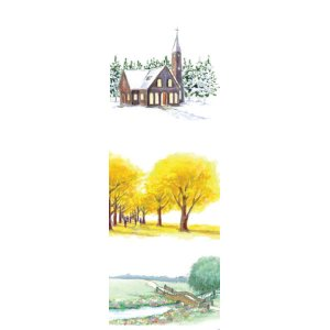 画像2: 春夏秋冬のシンプルな風景デザイン