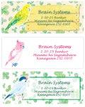 鳥、インコ、春のアドレスラベル