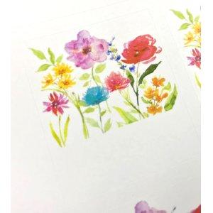 画像2: 白地にカラフルな水彩画風の花がおしゃれ!