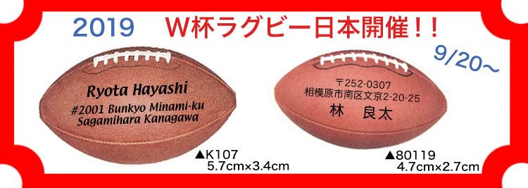 ラグビーボールのデザイン